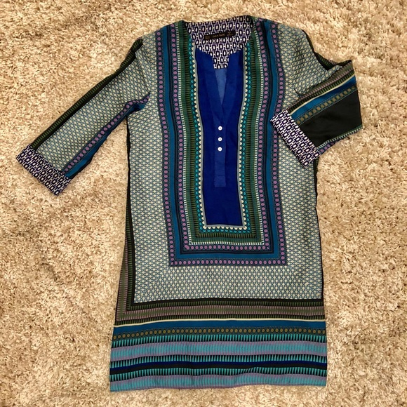 7f39c5bd97c Zara Dresses | Multicolored Tunic Dress | Poshmark
